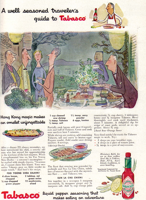 Vintage Ad #921: A well seasoned traveler's guide to Tabasco
