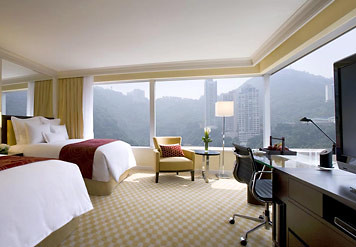 Deluxe room at the JW Marriott Hotel Hong Kong