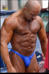13 (bb-fetish.com) Tags: muscle posing posers trunks bodybuilder bulge