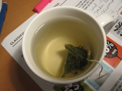 Sencha tea from the bistro - free