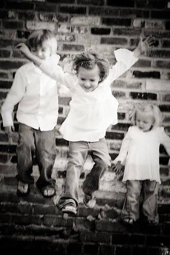Jumping portraits