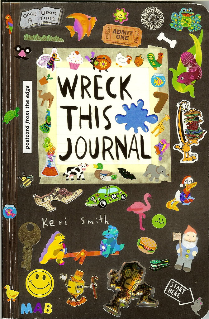 Wreck This Journal - Cover - Take 1
