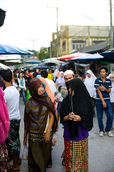 At a post-fasting food market in Pattani