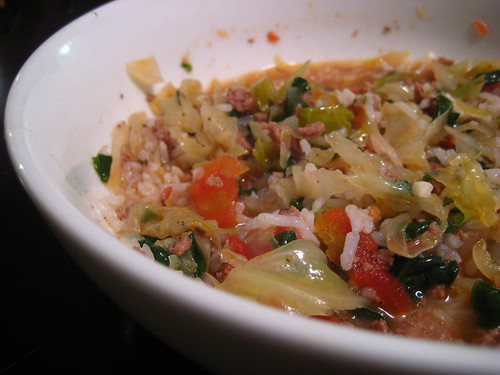 stuffed cabbage soup with rice