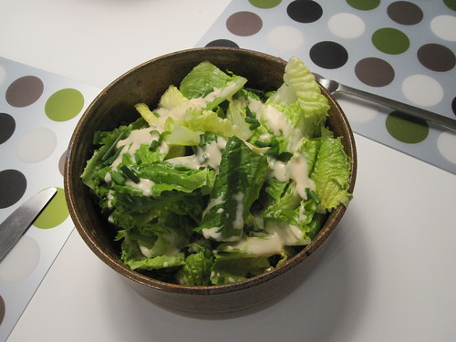 green salad with wafu dressing