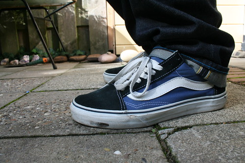 Buy vans old skool navy on feet 265521181fd9