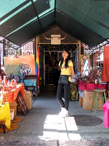 Sidewalk sale in Montreal's gay village by Martin Ujlaki