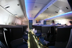 The New Cathay Pacific Business Class (Ch.H) Tags: new summer fish eye view pacific space class hong kong business karl boeing 2009 cathay 747 hab roomy the 467