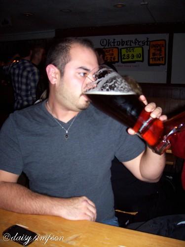 Matt drinking das boot