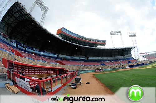 Vista interior del Estadio Quisqueya, nuestro play ya esta cojiendo su swin