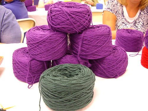 Some of the Yarn Being Used in Charity Hat Knitting