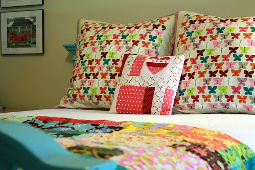 pillows in place