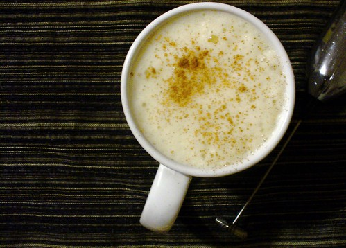 pumpkin spice tea latte