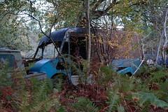 Thames Trader based Hawson integral parcel van (fryske) Tags: abandoned car junk rust rusty lorry junkyard scrapyard scrap salvage derelict relic