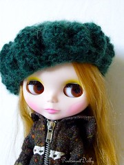 green french mohair beret