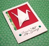 Origami Crane Holiday Card