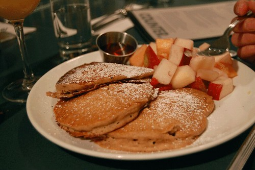 pancakes at counter