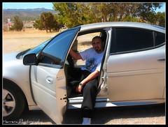In the car (Steve Herrera30) Tags: trees mountains newmexico me canon photography sitting pueblo pontiac zia picnik herrera a560