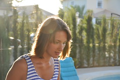Nimbus over a head (sweety_katy) Tags: summer sun girl hair clavicles veststriped