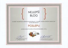 POSLEPU - nejlepší blog neziskovky za rok 2009