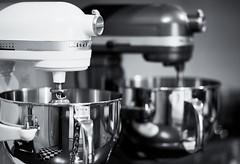 Twin's (idiotsniff) Tags: blackandwhite bw reflection kitchen canon handle counter bowl stainless kitchenaid splittone 6quart 5dii kitchenaidprofessional600 kitchenaidpro600 85mmf18f18