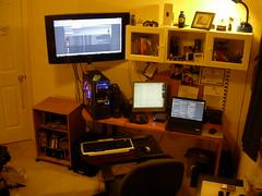 Messy Desktop 3 (JonJCP) Tags: desktop pc laptop samsung saitek