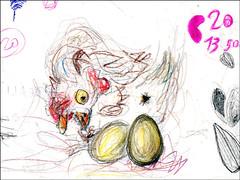 la gallina dalle uova d'oro (sprcubi) Tags: drawing hen disegno fable aesop gallina favola goldeneggs esopo uovadoro
