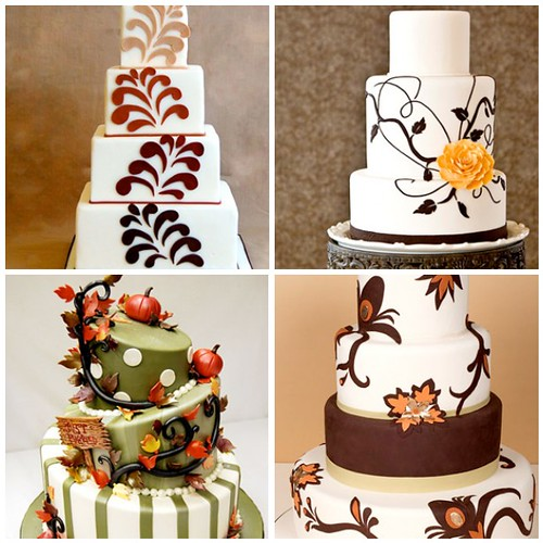 Fall Wedding Cake Ideas. If you're planning a Fall 2010 wedding,