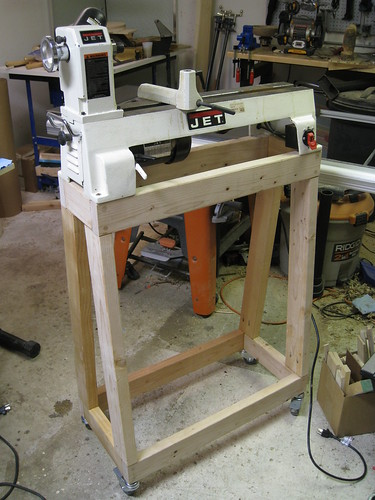 lathe on new stand
