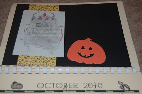 Adam's calendar gift - October