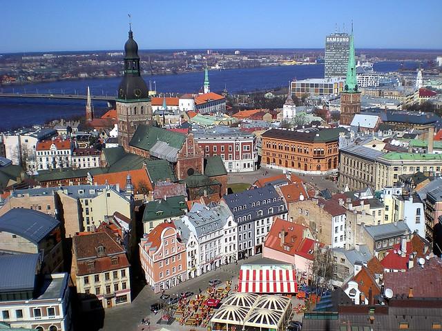 Panorama del centro storico di Riga