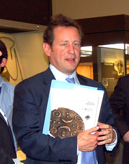 Ed Vaizey with his report copy