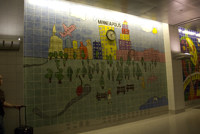 D5 airport mpls wall