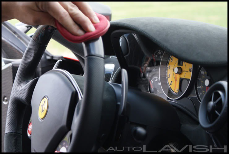 KAIO on a ferrari steering wheel