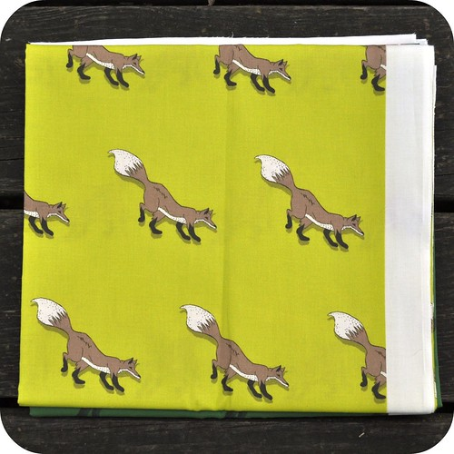 Yellow Fox Fabric