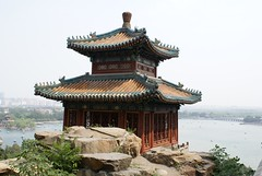 Temple with Kunming lake on the Background