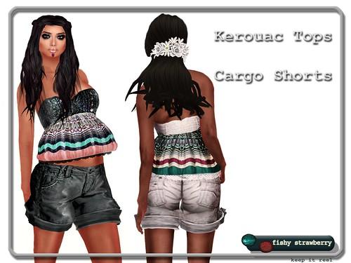 Kerouac Tops - Cargo Shorts
