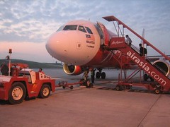 Airasia crew doing final check ~
