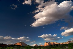 Sedona, AZ (Nick Carver Photography) Tags: travel autumn trees arizona sky cliff plants usa southwest tree fall tourism nature weather rock horizontal clouds season landscape outdoors landscapes rocks butte desert country sedona cliffs orientation sedimentary types celestial rockformation regions americansouthwest coconinonationalforest citystate bellrock courthousebutte natureparks photospecs stockcategories ncpfineartprint geographicfeatures locationssubjects