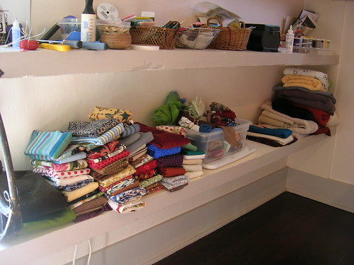 scraps, leftovers, and knits (far-right)