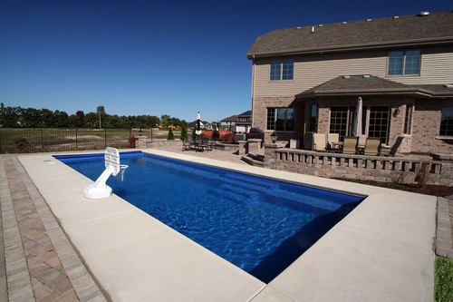 Another beautiful fiberglass swimming pool