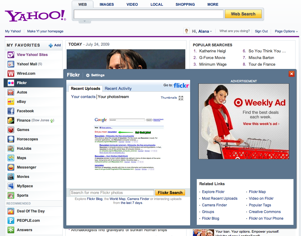The New Yahoo! Homepage