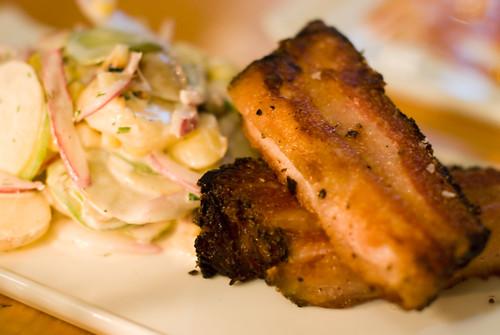 Pork Belly Pastrami & Summer Salad