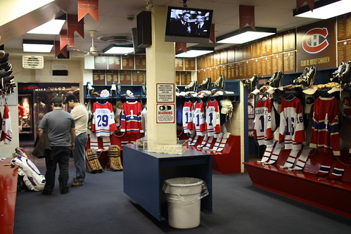 Montreal Canadian locker room