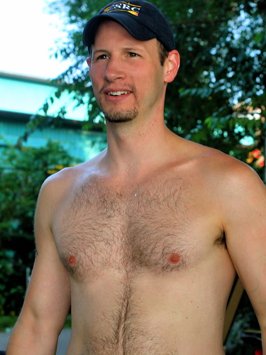 Man Muscular Hairy Chests
