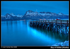 Bay of Valdez (Alaska) (Juan C Ruiz) Tags: blue alaska bay nocturnal prince william sound oil valdez pipeline hdr breathtaking nigth princewilliamsound blueribbonwinner newvision breathtakinggoldaward artofimages qualitysurroundings waterenvirons bestcapturesaoi adrinnesmagicalmoments peregrino27newvision