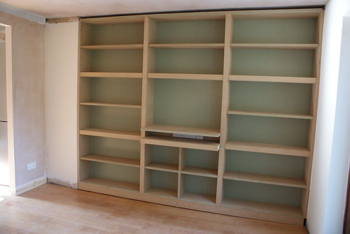 New bookshelves