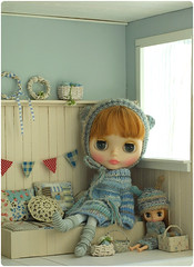 Bebe and the little one ^^ (megipupu) Tags: miniature doll handmade blythe hybrid dollhouse megipupu misssallyrice