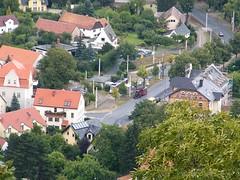 Görlitzer Straßenbahn von der Landeskrone aus