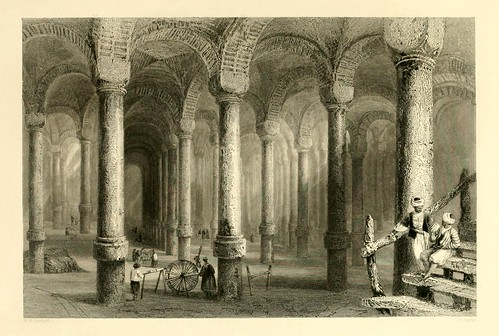 022- Aljibes de Ben-Viber-Direg o las ciento una-Las bellezas del Bosforo 1838-W.H. Bartlett
